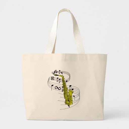 Saxophone Jumbo Tote Bag