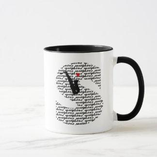 Saxophone Letter S Mug
