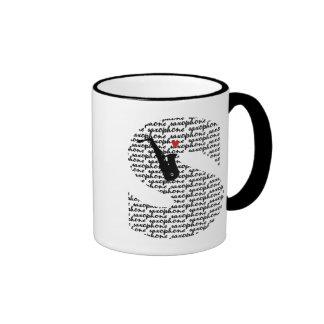 Saxophone Letter S Ringer Coffee Mug