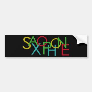 SAXOPHONE Letters Bumper Sticker