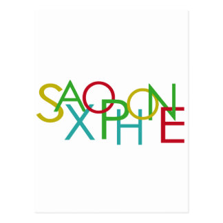 SAXOPHONE Letters Postcard