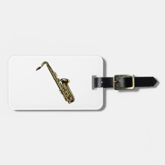 Saxophone Luggage Tag
