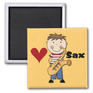 Saxophone - Male Tshirts and Gifts Magnet