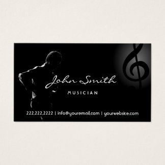 Saxophone Music Elegant Clef Musical Business Card