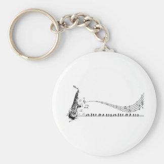 Saxophone Music Key Ring