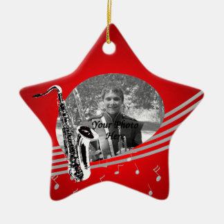 Saxophone Music Photo Christmas Ornament
