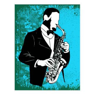 Saxophone Music Postcard Postcard