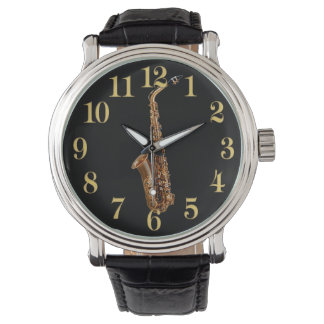 Saxophone Music-Themed Musician's Gift Watch