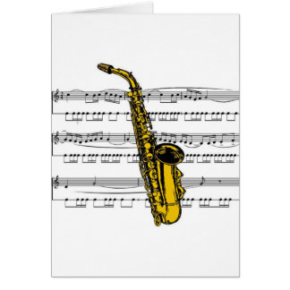 Saxophone musical 13 B Card