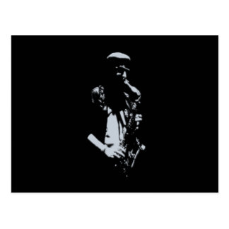 Saxophone Musician Artwork Postcard