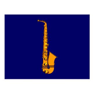 Saxophone of saxophones sax post cards