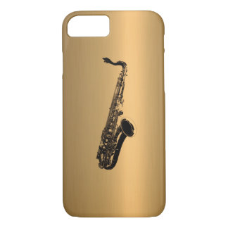 Saxophone on Bronze Copper Effect iPhone 7 Case