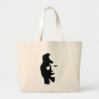 Saxophone Or Woman Optical  Illusion Canvas Bag