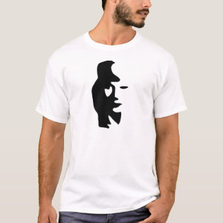 Saxophone Or Woman Optical  Illusion T-Shirt