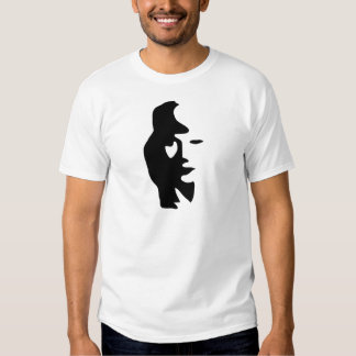 Saxophone Or Woman Optical  Illusion Tees