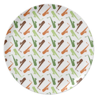 Saxophone Party Plate