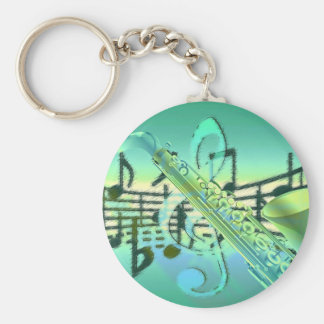 Saxophone Pastel Abstract Design Key Ring