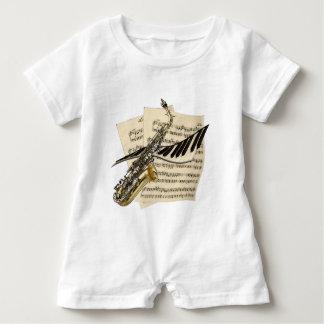 Saxophone & Piano Music Baby Bodysuit