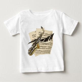 Saxophone & Piano Music Baby T-Shirt
