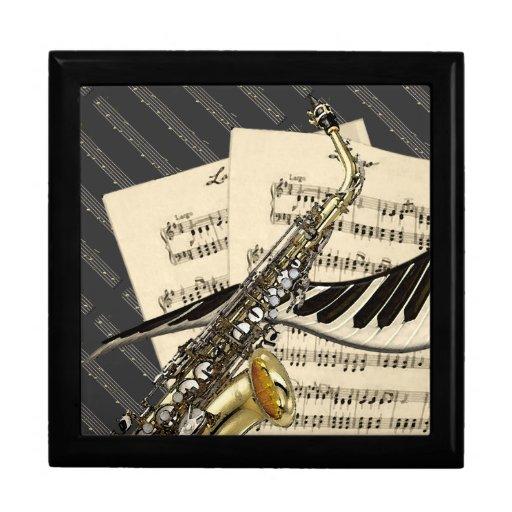 Saxophone & Piano Music Design Gift Box