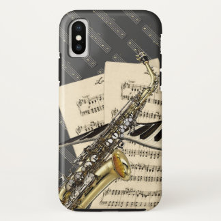 Saxophone & Piano Music iPhone X Case