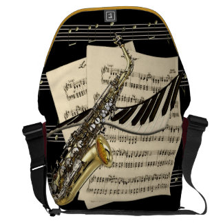 Saxophone & Piano Music Large Messenger Bag