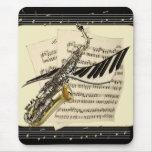 Saxophone & Piano Music Mousepad