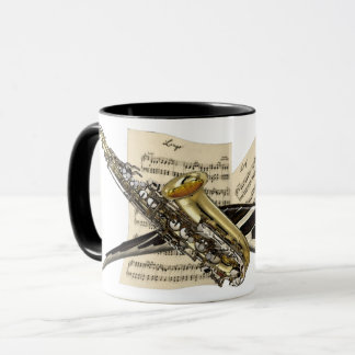 Saxophone & Piano Music Mug