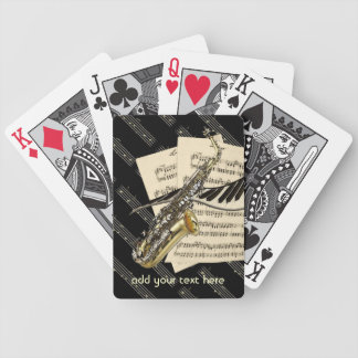 Saxophone & Piano Music Personalized Bicycle Playing Cards