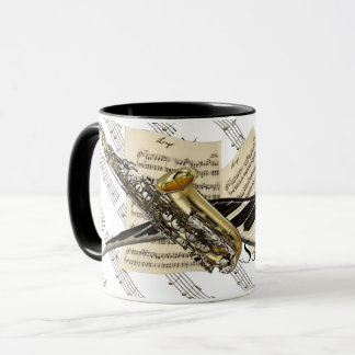 Saxophone & Piano Music Personalized Mug