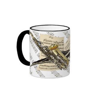 Saxophone & Piano Music Personalized Mugs