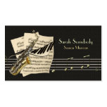 Saxophone & Piano Music Profile Card Pack Of Standard Business Cards