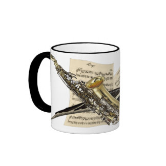 Saxophone & Piano Music Ringer Mug