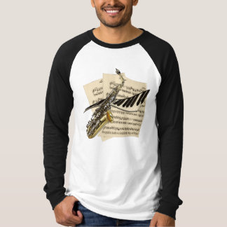 Saxophone & Piano Music T-Shirt