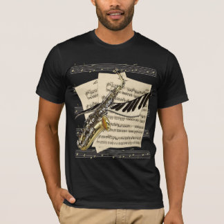 Saxophone & Piano Music Tees