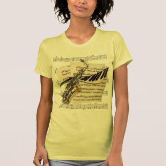 Saxophone & Piano Music Tees