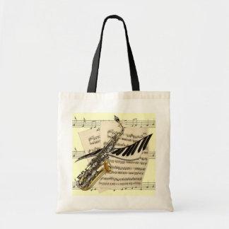 Saxophone & Piano Music Tote