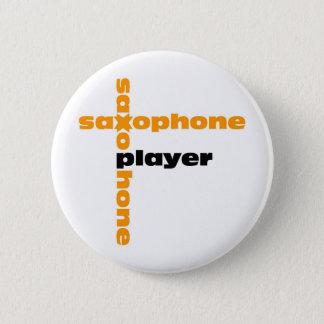 Saxophone Player 6 Cm Round Badge