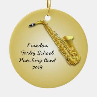 Saxophone Player Custom Photo Musicians Ornament