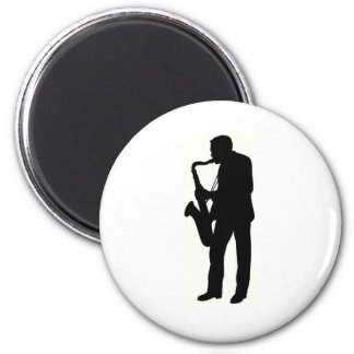 """Saxophone player"" design gifts and products Magnets"