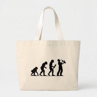 Saxophone Player Large Tote Bag