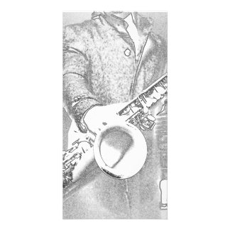 saxophone player... picture card