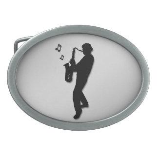 Saxophone Player Silver Belt Buckles