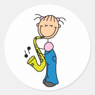 Saxophone Player Stickers Sticker