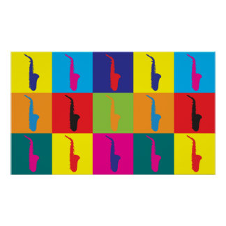 Saxophone Pop Art Poster