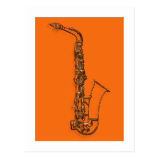 Saxophone Post Card