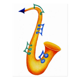 Saxophone Postcards
