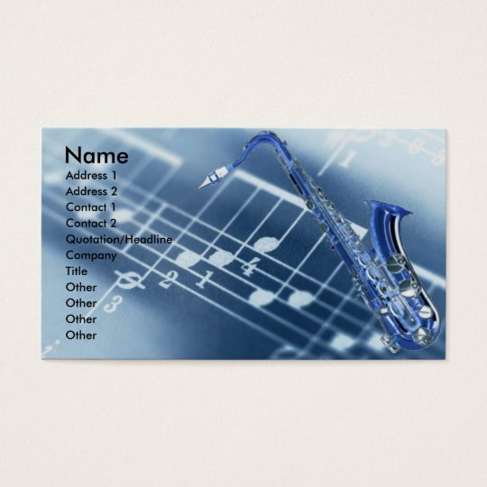 Saxophone Profile Card