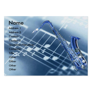 Saxophone Profile Card Business Card Template