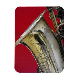 Saxophone Rectangular Photo Magnet